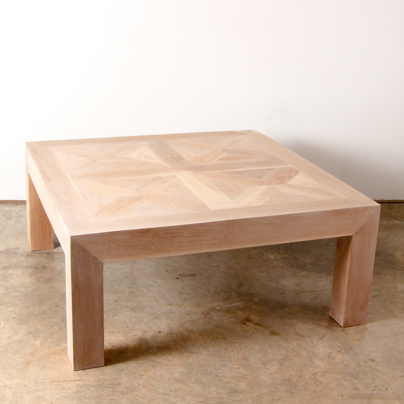 March Newsletter Coffeetable Oak Parquet Coffee Table
