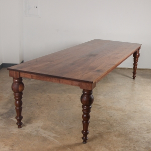 Walnut Turned Leg Dining Table copy