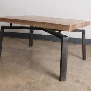 White Oak Cerused Steel Coffee Table copy